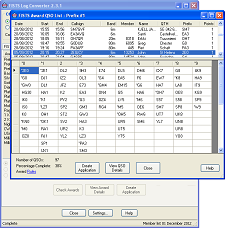 Snapshot of the Prefix QSO display in the FISTS Log Converter program.  Click for larger image.
