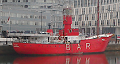 Small photograph of the lightship Planet at Liverpool, UK.
