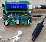 QCX (QRP Labs CW Transceiver) front.