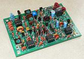 Small photograph of SW-80+ QRP CW transceiver PCB.  Click for a large image