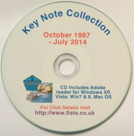 Large photograph of FISTS Europe Key Note Collection on CD